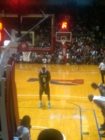 Lebron at the foul line